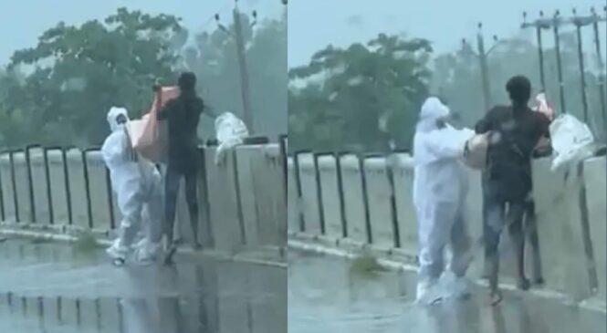 कोरोना कारण काकाको मृत्यु भयपछी भतिजले शनिबार दिउँसो नदीमा फ्या के को भिडियो सामाजिक सञ्जालमा भा, इरल (भिडियो सहित)